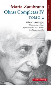 Imagen de cubierta: OBRAS COMPLETAS IV MARÍA ZAMBRANO