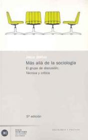 Imagen de cubierta: MÁS ALLÁ DE LA SOCIOLOGÍA