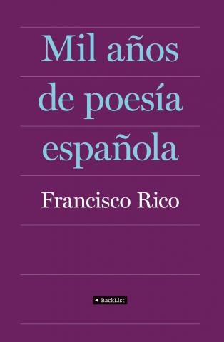 Imagen de cubierta: MIL AÑOS DE POESIA ESPAÑOLA